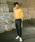 Dickies(ディッキーズ)の「【メンズ】Dickiesロゴシャイニングジェルプリント長袖Tシャツ(Tシャツ/カットソー)」|オレンジ