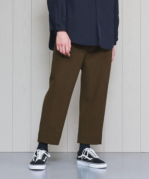 <H>MELTON LOOSE PANTS/パンツ