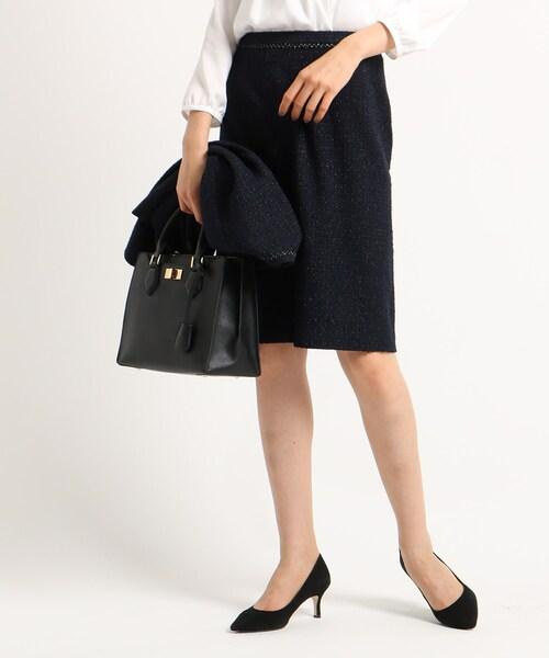 【ママスーツ/入学式 スーツ/卒業式 スーツ】ネオブライトツイードタイトスカート