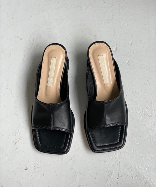 【chuclla】【2021/SS】Square toe middle sandal chs130