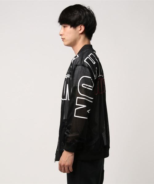 【A.T,C in the attic homme】ビッグロゴメッシュMA-1