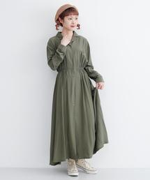 merlot(メルロー)のオープンカラーシャツワンピース1769(シャツワンピース)