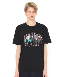 コラボレーションTシャツ/仮面ライダー集合(仮面ライダー)(ブラック)(Tシャツ/カットソー)