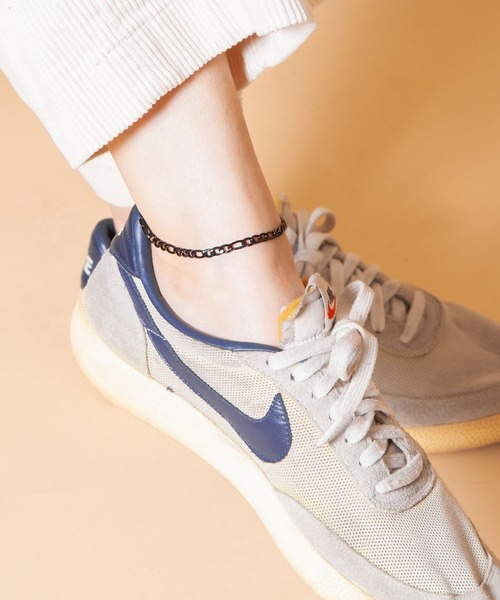 Anthe(アンテ)の「Anthe by yarka / stainless figaro anklet(アンクレット)」|ブラック