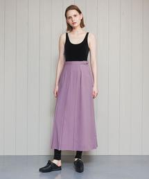 <H>WRAP PLEATED SKIRT/スカート