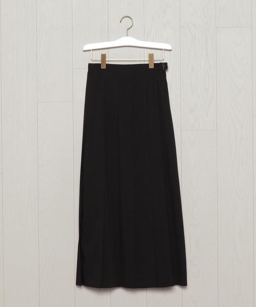 <H>WRAP PLEATED SKIRT/スカート