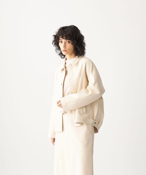 <CITEN(シテン)>フェイクレザー ルーズ シャツジャケット