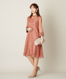 45a2dfd2a953c PARTY DRESS(パーティードレス)の「スタンドネック総レースリンクドレス aimer