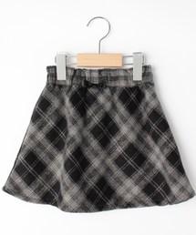 3can4on(サンカンシオン)の【160cmまで】フェイクウールチェックスカート(スカート)