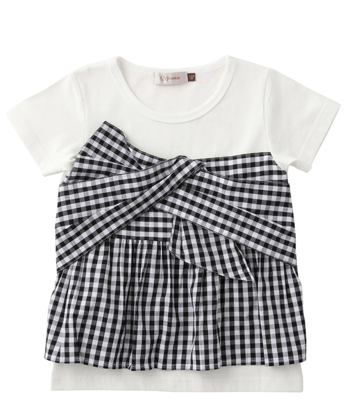 ビスチェ付き風Tシャツ