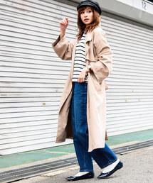 Fashion Letter(ファッションレター)のロング丈 トレンチコート(トレンチコート)