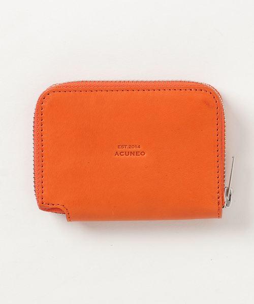 ACUNEO(アクネオ)の「ACUNEO(アクネオ)COUNTRY ラウンドファスナー カード、コインケース(コインケース/札入れ)」 オレンジ