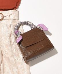 natural couture(ナチュラルクチュール)のクロコ2WAYレトロショルダーバッグ(ショルダーバッグ)