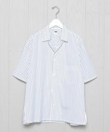 <H>THOMAS MASON OPEN COLLAR SHORT SLEEVE SHIRT/シャツ