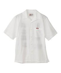 TYPE LOGO オープンカラーシャツホワイト