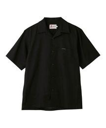 TYPE LOGO オープンカラーシャツブラック