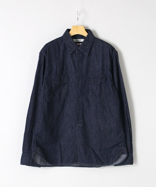 [OMNIGOD / オムニゴッド] 5.5ozデニムダブルポケットワークシャツ
