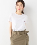 SLOBE IENA | MAISON KITSUNE TRICOLOR FOX PATCH Tシャツ◆(Tシャツ・カットソー)