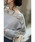 CAWAII(カワイイ)の「【前後どちらでも着られる2WAY仕様】流れ咲く花コサージュのニットトップス/シアーニット/モヘアニット(ニット/セーター)」|詳細画像