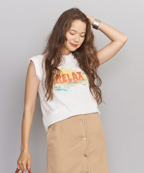 <girl Dangerous>プリントノースリーブTシャツ