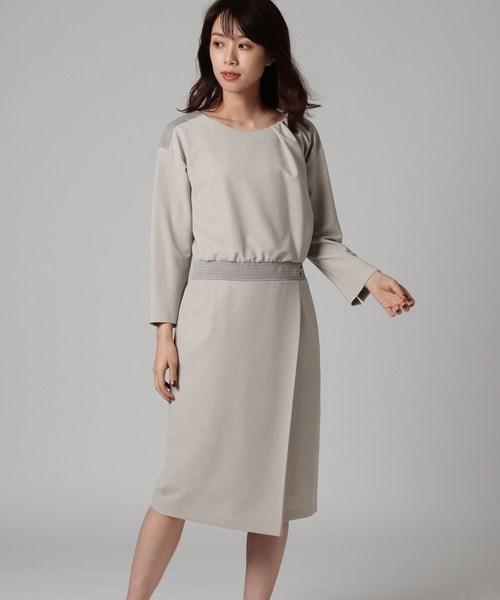 上品な ラップ風切り替えワンピース(ワンピース)|UNTITLED(アンタイトル)のファッション通販, 音戸町:66774d8e --- 5613dcaibao.eu.org