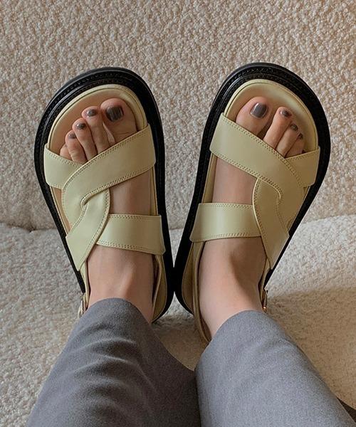 【chuclla】【2021/SS】curve cross belt sandal chs133