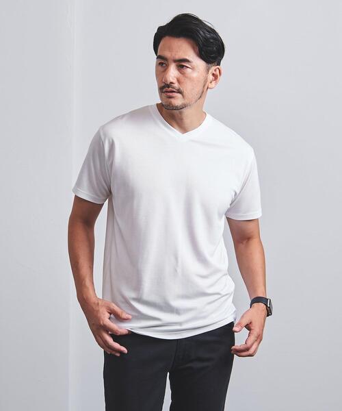 【WEB限定】<UNITED ARROWS> シャイニー Vネック Tシャツ