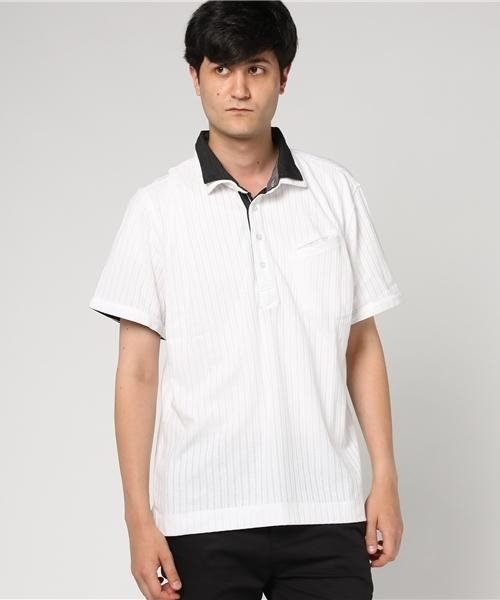【大きいサイズ】針抜シルケットスムース2枚襟ポロシャツ