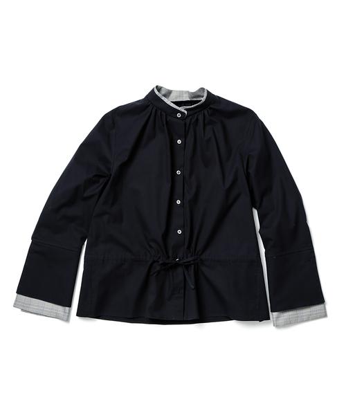 CNLZ Double collar blouse CNLZ-SH-1W