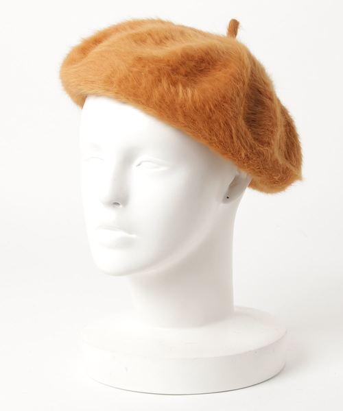 無(ム)の「シャギーベレー(ハンチング/ベレー帽)」|イエロー