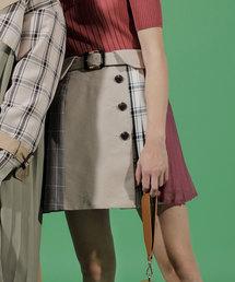 REDYAZEL(レディアゼル)のレイシーチェックMIXミニスカート(スカート)