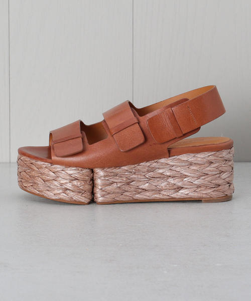 <CLERGERIE>LEATHER WEDGE SANDALS/サンダル