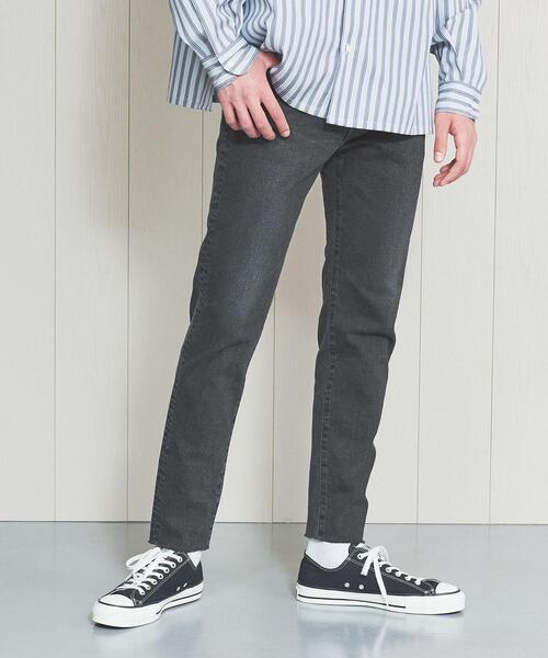 <H>BLACK DENIM 5P SKINNY PANTS/パンツ