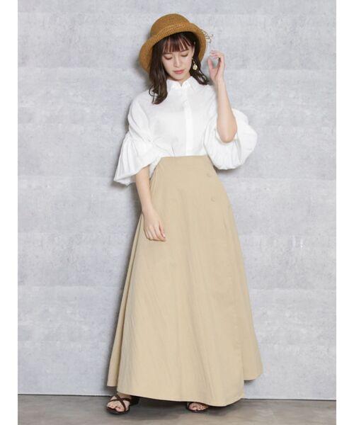 dazzlin(ダズリン)の「フレアナチュラルロングスカート(スカート)」 詳細画像