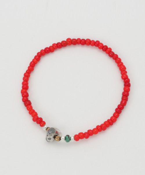 SunKu(サンク)の「White Heart Beads Bracelet(ブレスレット)」 詳細画像