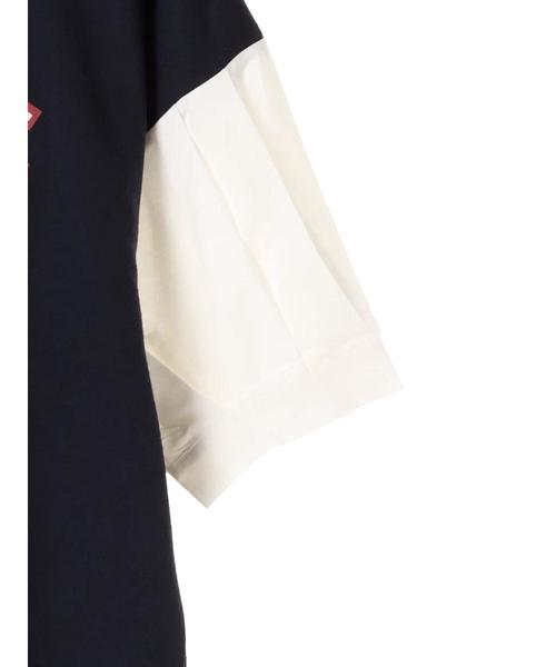 ・RAY CASSIN 布帛袖タックロゴプルオーバー