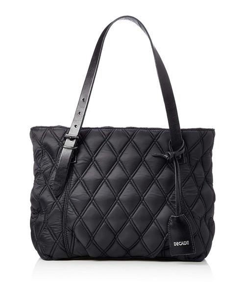 【在庫処分】 キルティングナイロン・トートバッグ(S) DECADE(No-01162) Quilt Nylon Tote Bag S, 【靴下のアンフィニ】 36a773e9