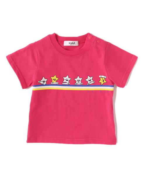 00a3604e540f14 X-girl Stages(エックスガールステージス)のキラッキーいっぱい半袖Tシャツ