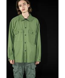 <monkey time> BACK SATIN MILITARY CPO/CPOシャツ