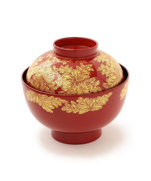 BEAMS JAPAN(ビームス ジャパン)の「漆琳堂 / シダ沈金 太丸椀(食器)」|レッド系その他