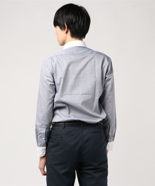 EAPF36-11 アーバン TC5050形態安定 グレーCK クレリックラウンドカラーシャツ
