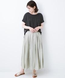 haco!(ハコ)の【セールにならないお約束】背中で女っぽを魅せる ゆったりなのにちゃっかりキレイTシャツ(Tシャツ/カットソー)