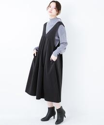 haco!(ハコ)のTシャツにもニットにもずーーっと着られて便利なジャンパースカート(ジャンパースカート)
