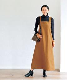 studio CLIP(スタディオクリップ)の《はまじコラボ》マキシジャンパースカート[WEB限定プチサイズ](ワンピース)