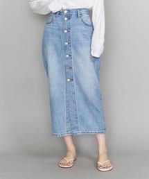 <LEVI'S(リーバイス)>フロントボタンミドルデニムスカート