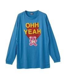 OHH YEAH オーバーサイズTシャツブルー