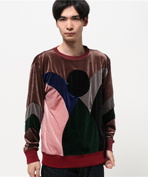 ALDIES(アールディーズ)のExchange Velor パッチワーク ベロアトップス(Tシャツ/カットソー)