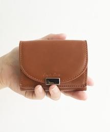 8ae127c1a3b3 Legato Largo(レガートラルゴ)の「Legato Largo フェイクレザー三つ折りミニ財布