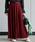 nougatine(ヌガティーヌ)の「ジョーゼットプリーツスカート(スカート)」|ボルドー