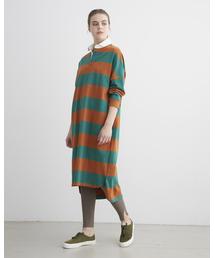 Traditional Weatherwear(トラディショナルウェザーウェア)のBIG RUGBY SHIRT ONE-PIECE(ワンピース)
